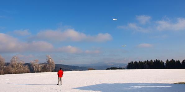 První sníh na Končinách