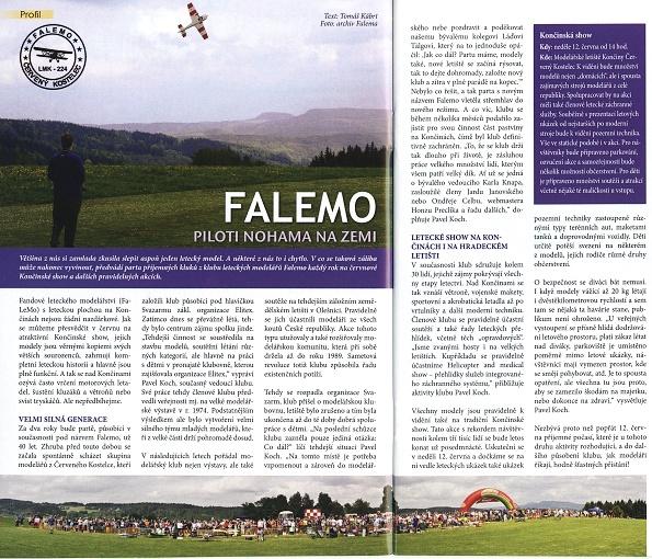 FALEMO - piloti nohama na zemi, Náchodský Swing, červen 2011, str. 18-19.