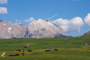 Dolomity, Fiss - svahové létání